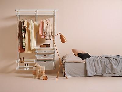 wandsystem classic wei elfa. Black Bedroom Furniture Sets. Home Design Ideas